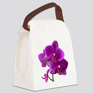 Striking Purple Orchid Flower Canvas Lunch Bag