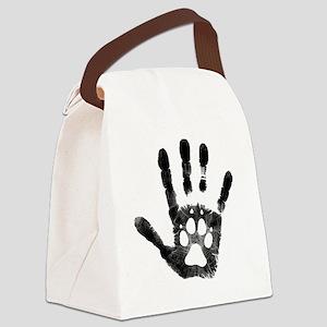 Lobo Paw Print Canvas Lunch Bag