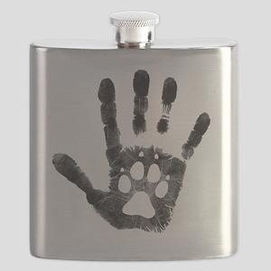 Lobo Paw Print Flask