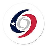 Texas Hurricanes Round Car Magnet