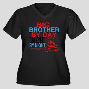 Big Brother  Women's Plus Size Dark V-Neck T-Shirt
