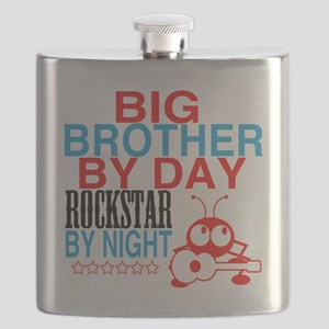 Big Brother by Day, Rockstar By Night Flask