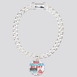 Big Brother by Day, Rock Charm Bracelet, One Charm