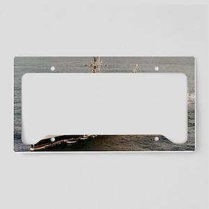 uss mount vernon large framed License Plate Holder