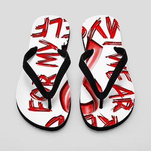 I Wear Red for Myself Flip Flops