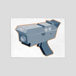 mobile speed camera radar gun retro 5'x7'Area Rug
