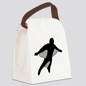 Wingsuit Silhouette 2 Black Canvas Lunch Bag