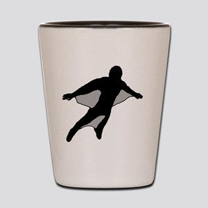 Wingsuit Silhouette 2 Black Shot Glass