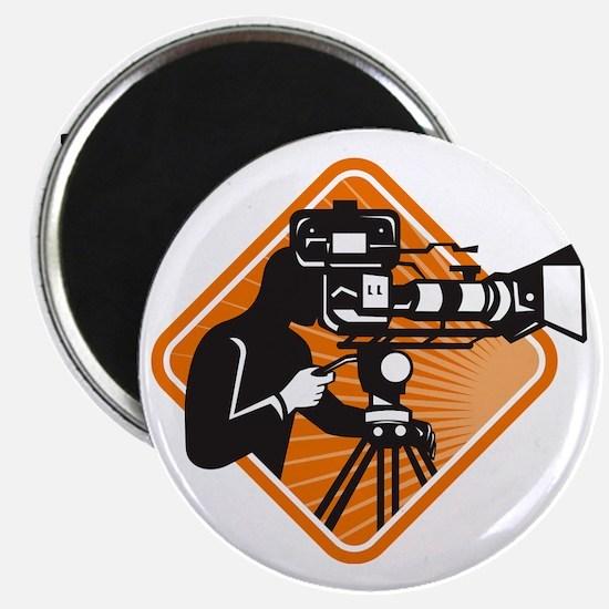 film crew cameraman shooting filming camera Magnet