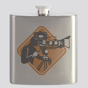 film crew cameraman shooting filming camera Flask
