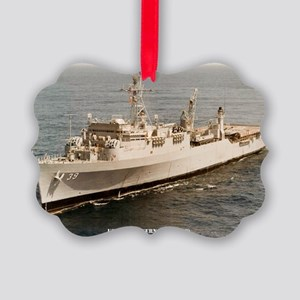 uss mount vernon framed panel pri Picture Ornament