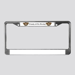Cheeky Little Monkey License Plate Frame