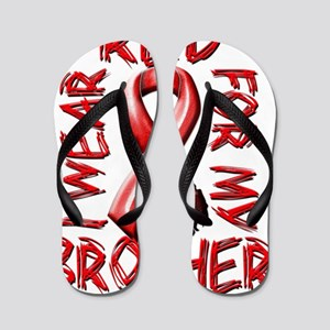 I Wear Red for my Brother Flip Flops