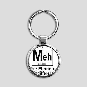 Element Meh Round Keychain