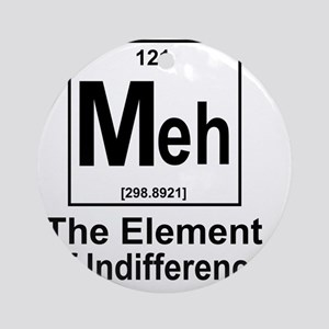 Element Meh Round Ornament