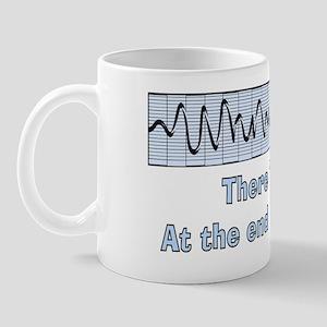 v-fib light at end of tunnel Mug