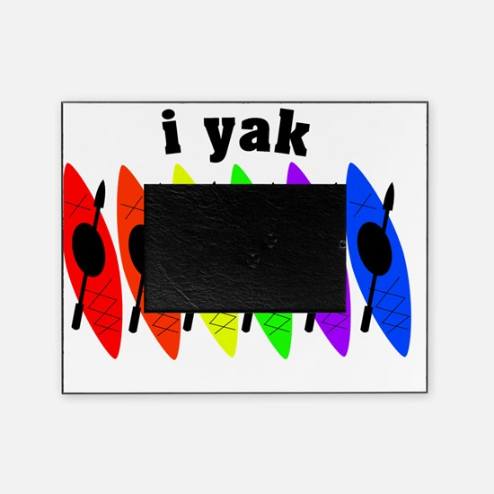 kayak rainbow i yak Picture Frame