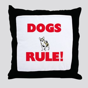 Dogs Rule! Throw Pillow