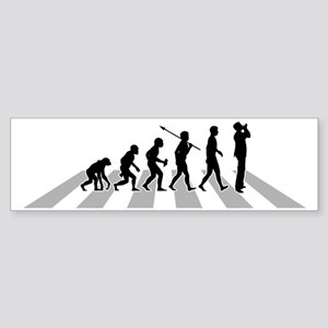 Harmonica-Player-B Sticker (Bumper)