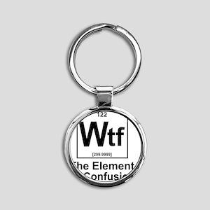 Element Wtf Round Keychain