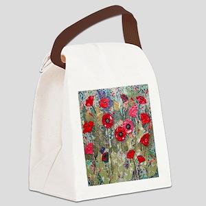Poppy Fields Canvas Lunch Bag