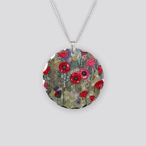 Poppy Fields Necklace Circle Charm
