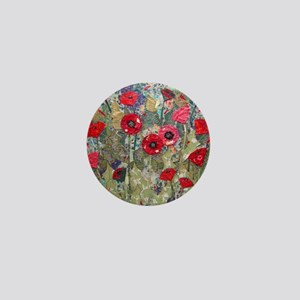 Poppy Fields Mini Button