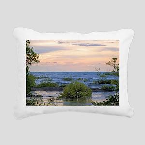 Mangrove Sunset Rectangular Canvas Pillow