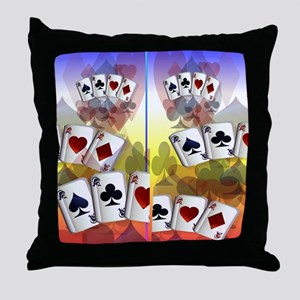 Four Aces Flip Flops Throw Pillow