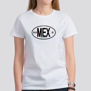 Mexico Euro-style Country Code Women's T-Shirt
