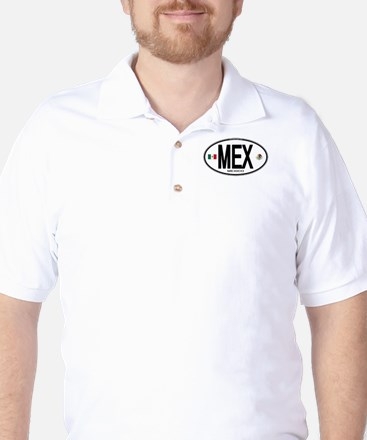 Mexico Euro-style Country Code Golf Shirt