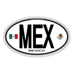Mexico Euro-style Country Code Oval Sticker