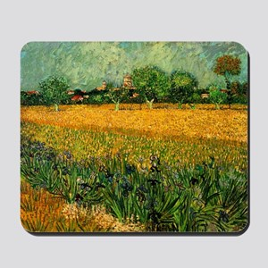 View of Arles with Irises Mousepad