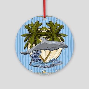 Dolphin 2 Round Ornament