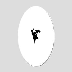 Yoyo sadplant - BW 20x12 Oval Wall Decal