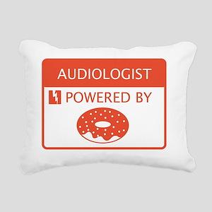 Audiologist Powered by D Rectangular Canvas Pillow