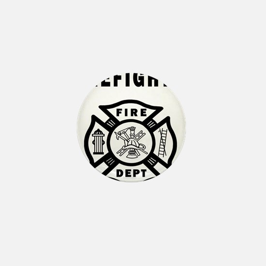 Firefighter Fire Dept Mini Button
