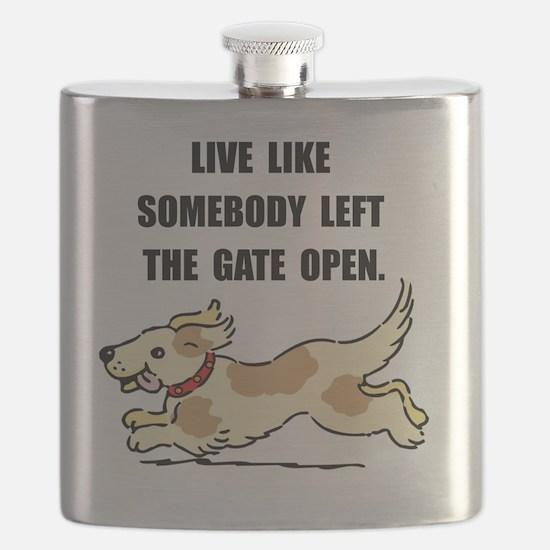 Dog Gate Open Flask