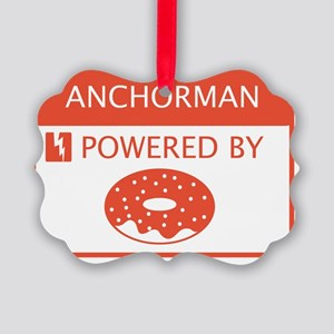 Anchorman Powered by Doughnuts Picture Ornament