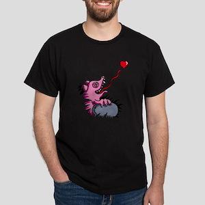 heart eating reptile chameleon Dark T-Shirt