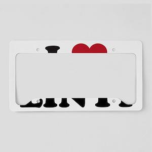I Love Linyi License Plate Holder