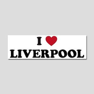 I Love Liverpool Car Magnet 10 x 3