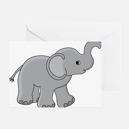 Cartoon Baby Elephant Greeting Card