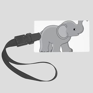 Cartoon Baby Elephant Large Luggage Tag