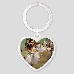 Edgar Degas Dancing Class Heart Keychain