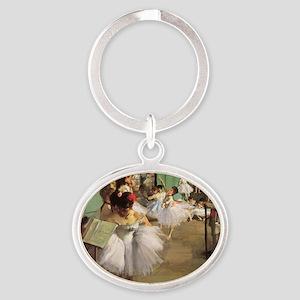 Edgar Degas Dancing Class Oval Keychain