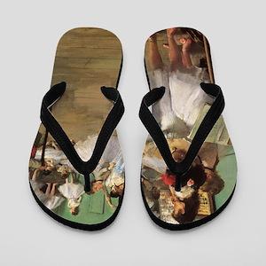Edgar Degas Dancing Class Flip Flops