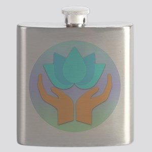 Lotus Flower - Healing Hands Flask