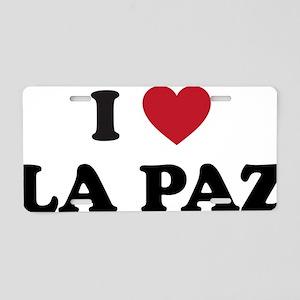 I Love La Paz Aluminum License Plate