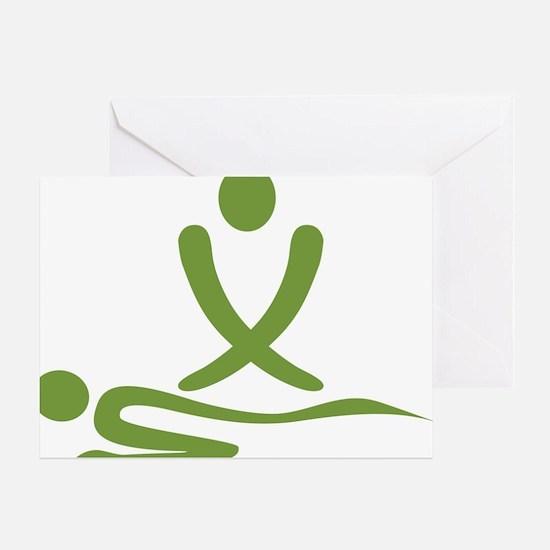 Green massage design Greeting Card